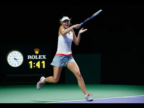 Maria Sharapova vs Agnieszka Radwanska | 2014 WTA Finals Highlights
