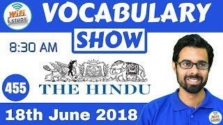 8:30 AM - Daily The Hindu Vocabulary with Tricks (18th June, 2018) | Day #455