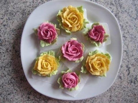 rosen aus buttercreme mit naturfarben selber machen f r. Black Bedroom Furniture Sets. Home Design Ideas