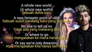 Terjemahan A whole New World ( Zayn Malik n Zhavia )