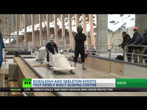 Bobsleigh track 'getting better every day' in Sochi