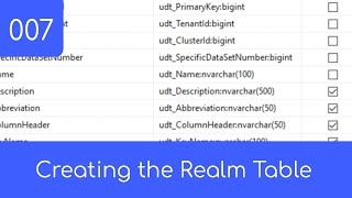 007 - The Realm Table - SQL Master Data Management