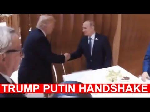TRUMP PUTIN HANDSHAKE, FIRST EVER MEETING 2017 President Donald Trump Meets Vladimir Putin at G20