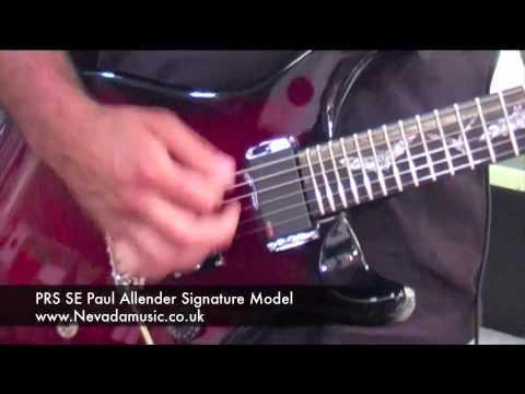 PRS SE Paul Allender Electric Guitar Scarlet Red - Nevada Music UK