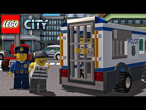 LEGO Police. Police Car. Cartoon about LEGO | LEGO Game My City