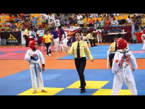 Combate De Tae Kwon Do De Javi Medalla De Plata