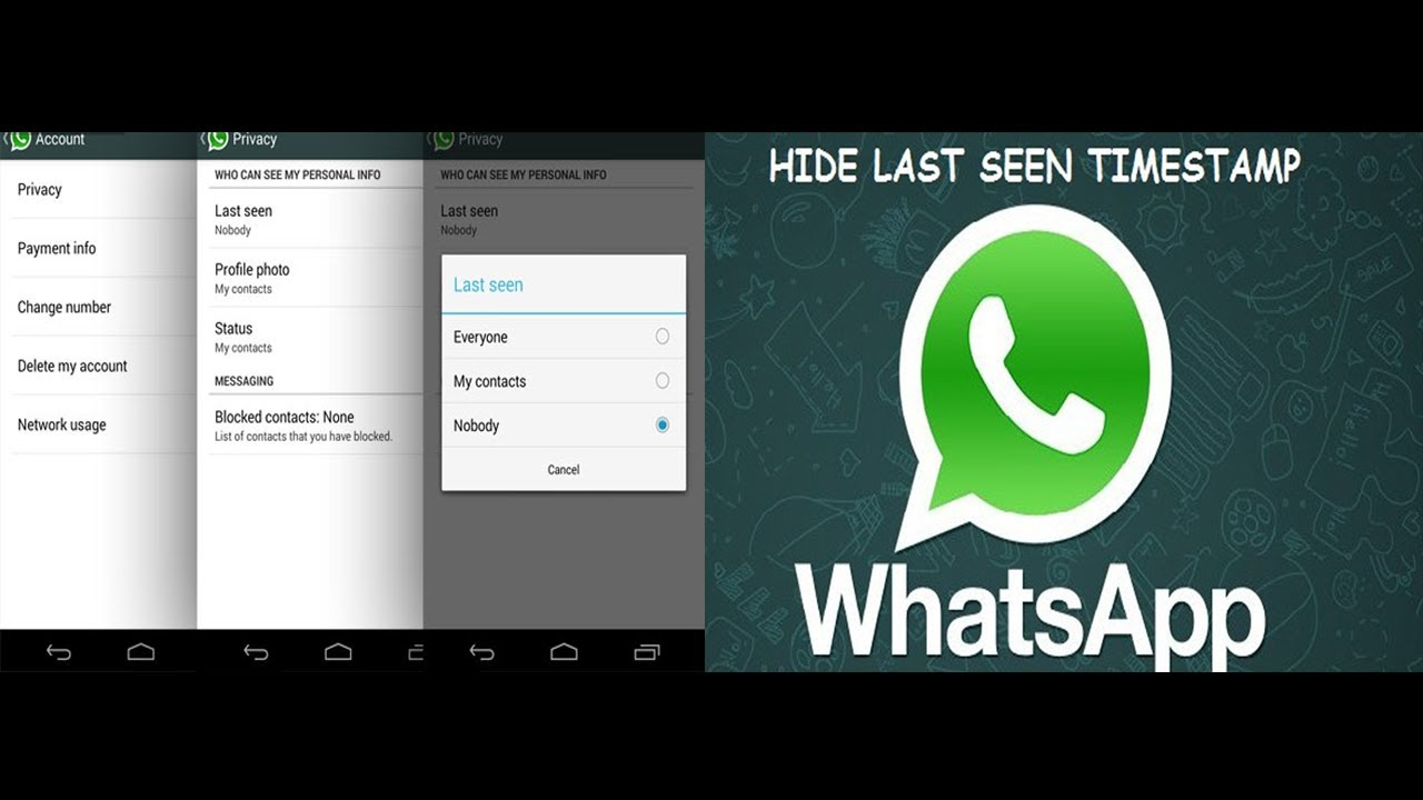 Whatsapp New Feature - Hide Last Seen Time, Profile Picture and Status ...