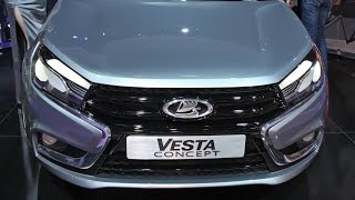 Новая Лада Веста 2015 New Lada Vesta 2015 Russia Car