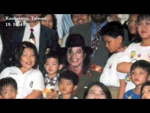 Michael Jackson Visits a Children's Home in Kaohsiung, Taiwan, 1996
