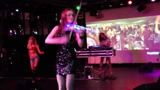DJ DJOLY  live violin LIANA   Harlem Shake VS Sati