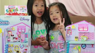 Disney Princess Belle Happy Places and Eggs surprises A TEAM Cinderella Princess Jasmine