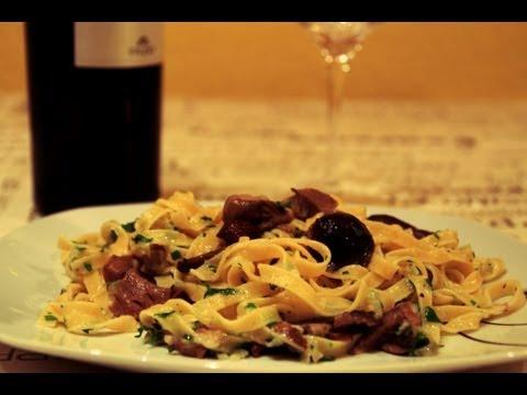 Pasta con Champiñones | Recetas Con Champiñones | Tagliatelle | Espagueti | Spaghetti | Macarrones