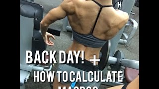 Back Day + How to Calculate Macros
