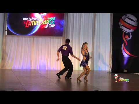 GABRIEL GUTIERREZ & AMANDA HANES, FRESNO CA, AMATEUR SALSA ON 2, FINAL ROUND, WLDC 2014