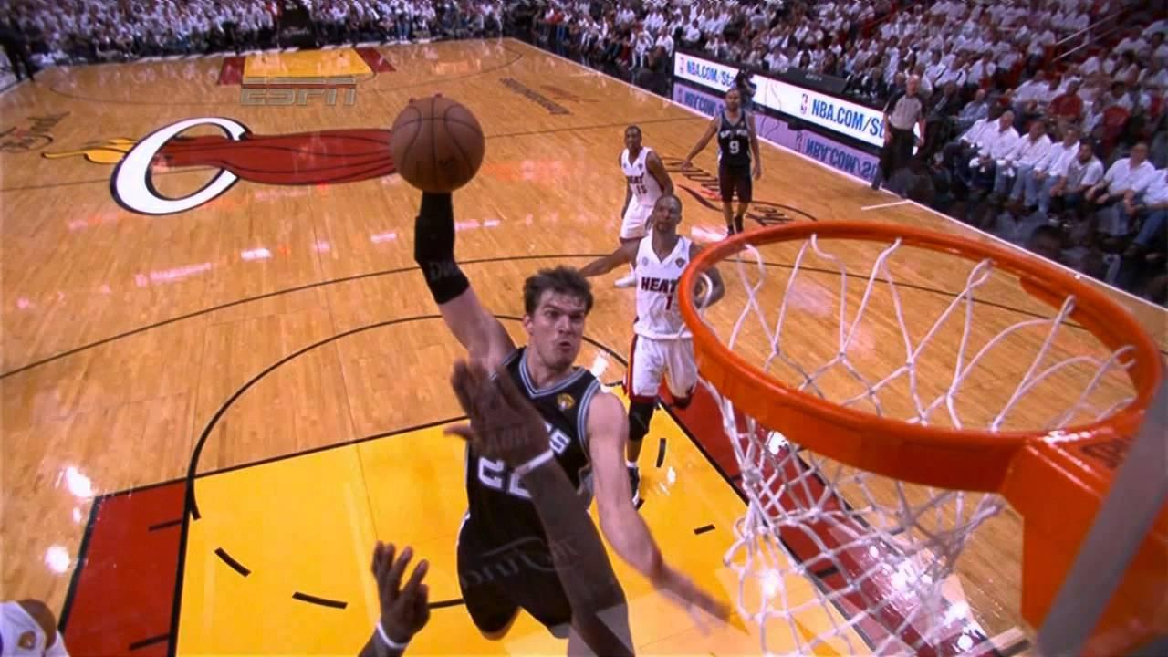 LeBron James' INSANE block on Tiago Splitter in Game 2! - YouTube