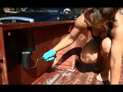 How to Easily Apply Rust-Oleum Paint On Truck Bed Liner.