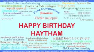 Haytham   Languages Idiomas - Happy Birthday