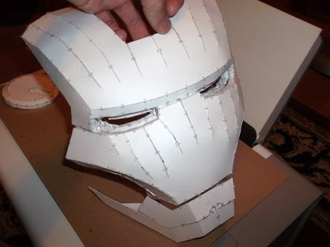 IRON MAN HELMET BUILD PART 1 ~ CUTTING & ASSEMBLING