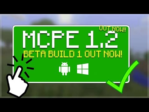 MCPE 1.2 OUT NOW!! Minecraft Pocket Edition - 1.2 BETA BUILD 1 OUT NOW All Changes!