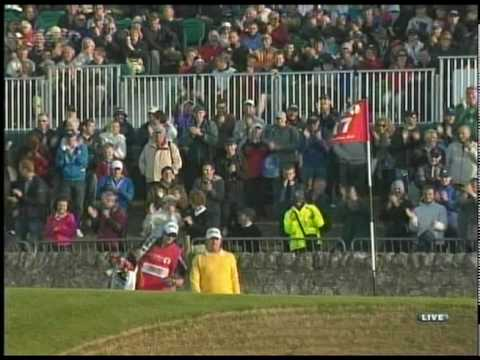 Miguel Ángel Jiménez Amazing Off the Wall Shot 2010 British Open