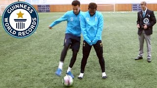 Spurs star Dele Alli attempts to break nutmeg world record - Guinness World Records