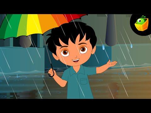 Barish Aayi Cham Cham Cham- Hindi Animated cartoon Nursery Rhymes For Kids video