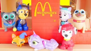 Puppy Dog Pals Adventure to Mcdonalds happy meal with secret life of pets 2 Jail Bus