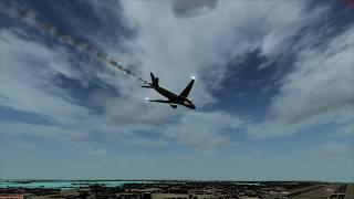 Belly Crash Landing Bahrain PIA 777-200 [Engine Fire]