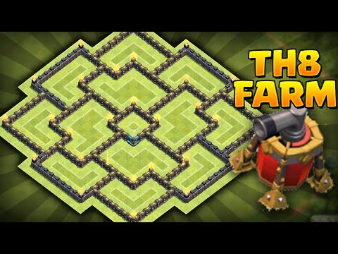 Clash of Clans - *NEW* Air Sweeper! Best Townhall 8 (TH8) Farming BASE! Circle of Death 3.0