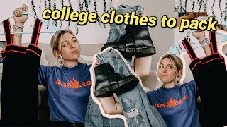 clothes you need in college // college clothing packing list!