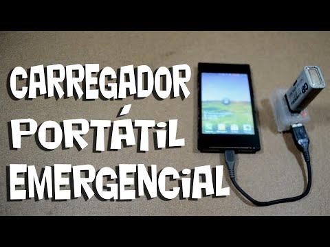 Mini carregador portátil para situações extremas! Faça o seu!