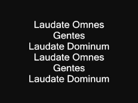 Laudate omnes gentes - tenor (Taize chant)