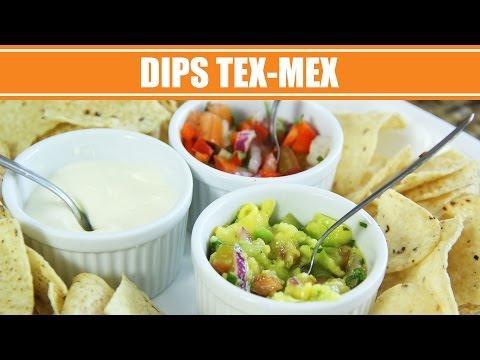 Receita de Dips Mexicanos: Pico de Gallo, Sour Cream e Guacamole - Receitas Mexicanas
