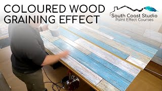 Coloured Wood Graining Effect