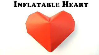 Fold An Origami Inflatable Heart! Designed By Jeremy Shafer