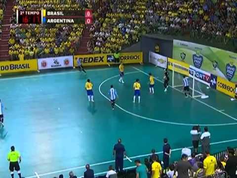 Futsal - Brasil 11 x 1 Argentina - Grand Prix Futsal 2013
