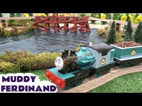 Thomas and Friends Play Doh Muddy FERDINAND Toy Train Misty Island Bash Dash Kids Story Playdough