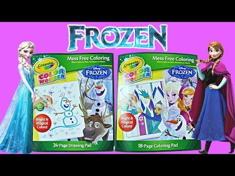 Disney Frozen Crayola Color Wonder Magical Paint Queen Elsa - Princess Anna Coloring Pad