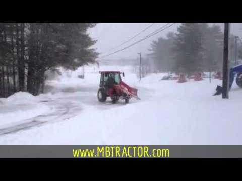 Boss V-Plow on Kubota Cab Tractor