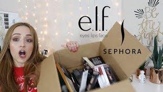 e.l.f & Sephora HAUL | NEW MAKEUP !!