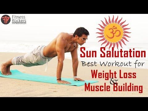Surya namaskar (Sun salutation) | Best yoga workout for weight loss & muscle building in Hindi