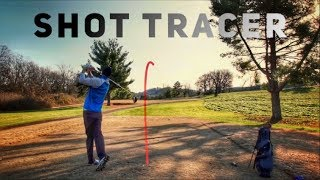 Golf Pro Analyzes Shots   With Shot Tracers