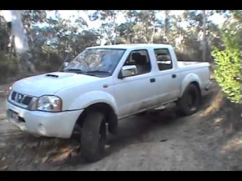 Nissan Navara D22 being tested off road.