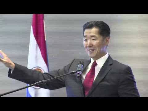 Hyun Jin Moon at Symposium on Paraguay and South Korea Relations