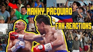 MANNY PACQUIAO vs KEITH THURMAN PINOY REACTIONS