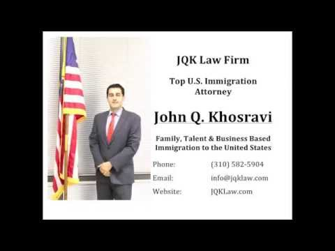 Attorney John Q  Khosravi represents immigrants from all over the world, looking for Family, Talent