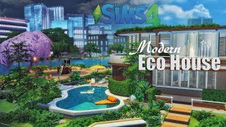 Modern Eco House • Curvy Pool | No CC | THE SIMS 4