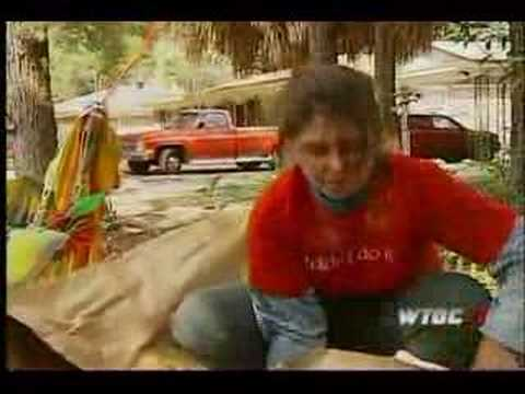 Crazy acid throwing woman