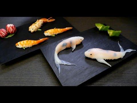 Koi fish sushi ibowbow for Koi fish pool cue