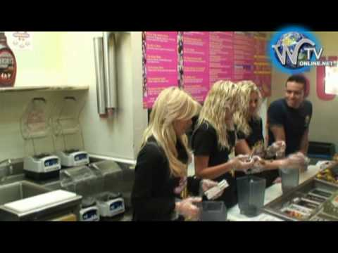 Playboy Girls Next Door Launch their 3 shakes at millions of milkshakes Video